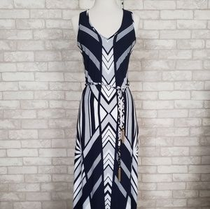 Cache Art Deco Maxi Dress - Mint Condition - SZ 0
